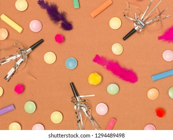 colorful brown canival background