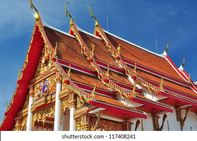 Colorful Buddhist Temple in Thailand