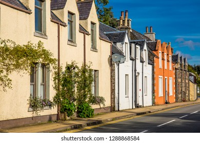 Colorful building in Portree, Highland, Scotland, UK
