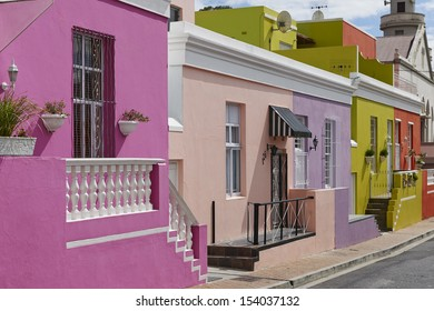 Colorful buildings in Bo-Kaap, Malay Quarter, Cape Town, Western Cape, South Africa