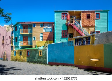 Colorful buildings of Caminito street in La Boca neighborhood - Buenos Aires, Argentina