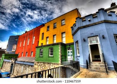 Colorful Buildings - Dublin Castle, Dublin Ireland