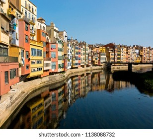 Colorful Buildings Gerona Spain