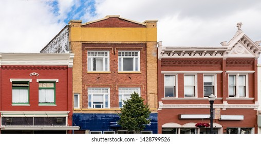 Colorful Buildings in old rural town