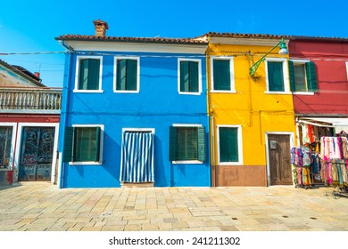 Colorful buildings on Burano island, Venice, Italy
