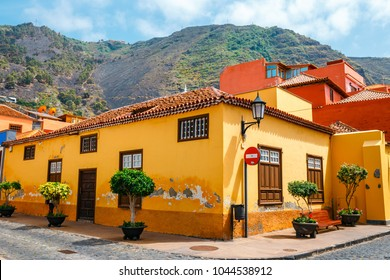 Colorful buildings on the streets of Garachico, Tenerife, Canary Islands, Spain