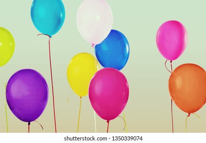Colorful bunch of balloons
