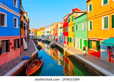 Colorful Burano Island near Venice, Italy