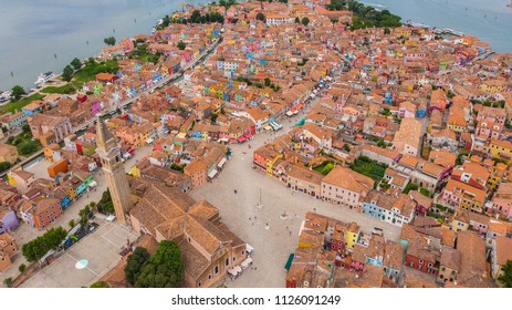 Colorful Burano village landmark travel