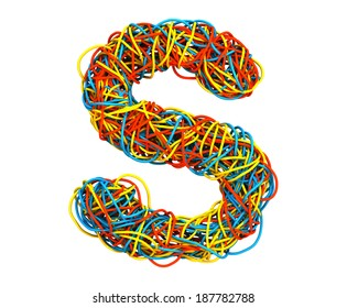 Colorful Cable Alphabet