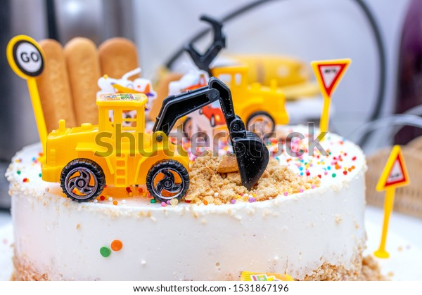 Pleasing Colorful Cake Kids Birthday Party Celebration Stock Photo Edit Funny Birthday Cards Online Eattedamsfinfo