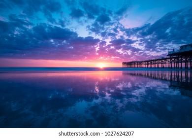 Colorful California Beach Sunset