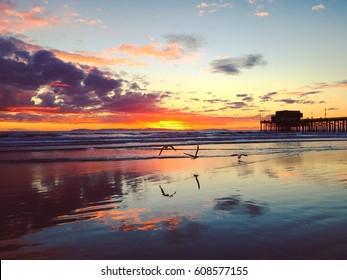 Colorful California sunset