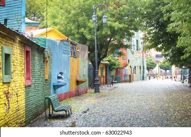Colorful Caminito street in the La Boca, Buenos Aires, Argentina