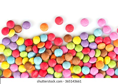 Colorful candies  isolated on white background