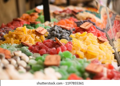 Colorful candies in the market