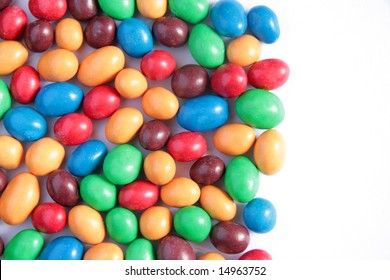 Colorful candy background with some copy space
