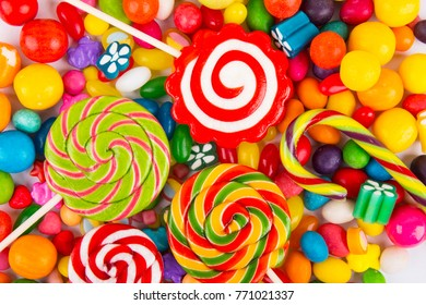 colorful candy closeup