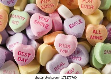 Colorful Candy Conversation Hearts for Valentine's Day