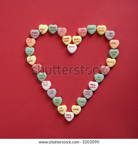 Colorful Candy Hearts Sayings On Them Stock Photo Edit Now 3203090