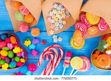 colorful candy, lollipops