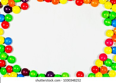 colorful candy on white background