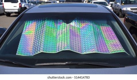 Colorful car windshield shade.
