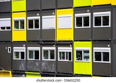 colorful cargo containers are used for housing