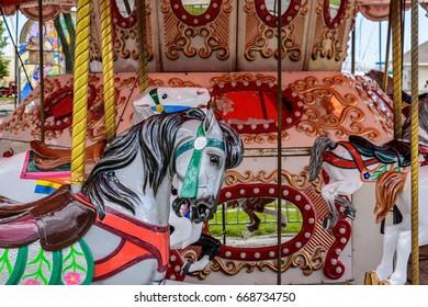 Colorful carnival carousel