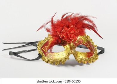 Colorful Carnival mask isolated on white background