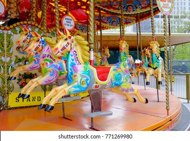 colorful carousel in a feastival