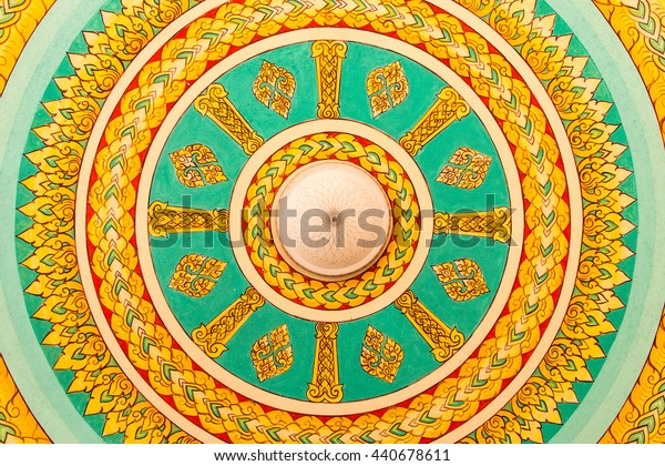 Colorful ceiling in Asian.