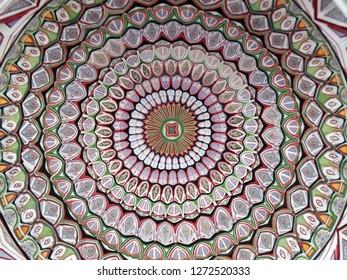 Colorful ceiling motif. pattern, mandala, design