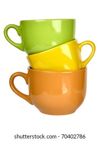 colorful ceramic cups