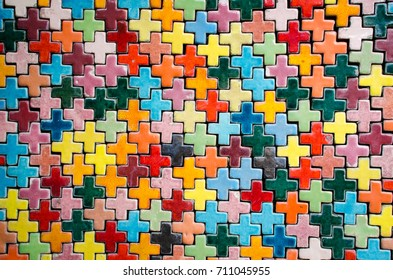 colorful ceramic laying for background