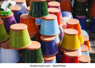 Colorful ceramic pots on sale