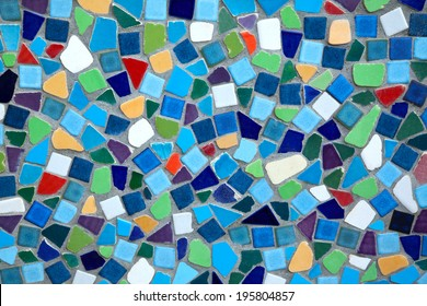 colorful  ceramic tile patterns background.