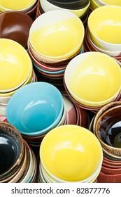 Colorful ceramics bowl
