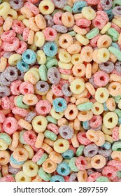 colorful cereal for background