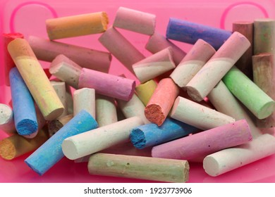 colorful chalk for artists and students