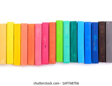 Colorful chalk isolated on white background