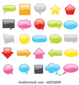 Colorful chat icons