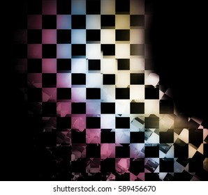 Colorful checkered flag background.