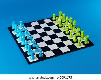 Colorful Chess Board
