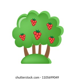 Colorful children's toys. Toy store, kindergarten, home kids games. Educational and sports games. Toy children's orchard with berries and fruits. Vegetation, trees, appearance. illustration.