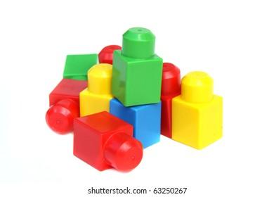 Colorful child's building bricks