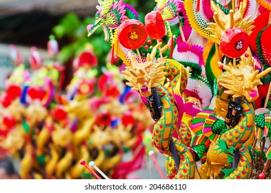 Colorful chinese dragon toy