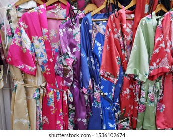 Colorful chinese style bathrobes background