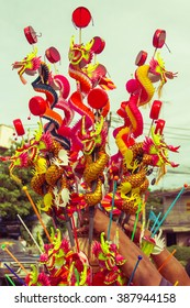 Colorful Chinese style dragon toy for decoration-Vintage filter