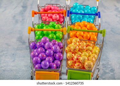 Colorful chocolate candies. Colorful leblebi (roasted chickpea) candies. Festive concept (Day concept).
